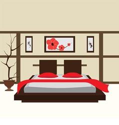 Interior bedroom vector