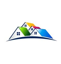 Neighborhood houses Real Estate Concept logo vector image vector image