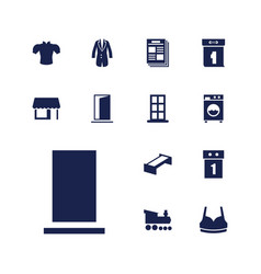 13 front icons vector