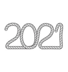 Abstract 2021 icon vector