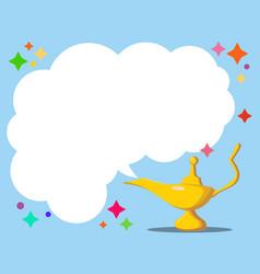 Aladdin s magic lamp genie magic vector