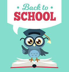 Back to school owl wise owl vector