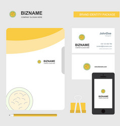 bacteria business logo file cover visiting card vector image