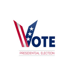 banner design for presidential election day in us vector image