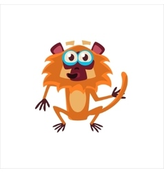 Big-eyed Monkey Flat vector