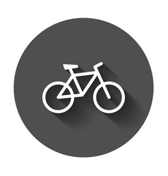 bike silhouette icon bicycle in flat style icons vector image