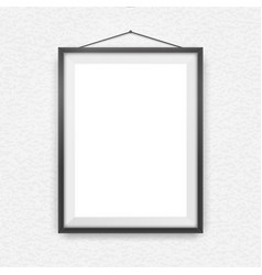 Black picture frame on a wall vector