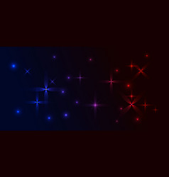 blue and red background in purple stars vector image