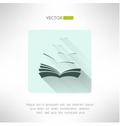 Book icon with seagulls made in modern flat design vector image