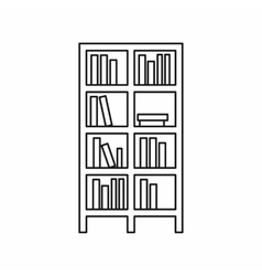 Bookcase icon in outline style vector