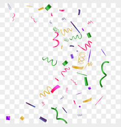 bright sparkle of colorful confetti vector image