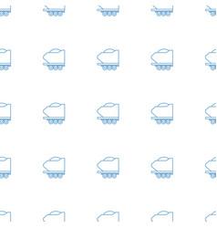 cargo trailer icon pattern seamless white vector image