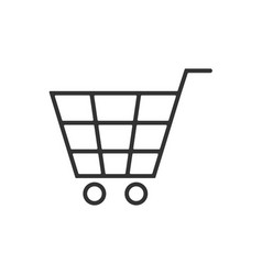 cart line icon on a white background vector image