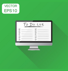 Checklist with computer icon business concept vector