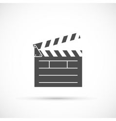 Clapper board icon vector image