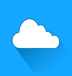 cloud icon over blue background with shadow stock vector image