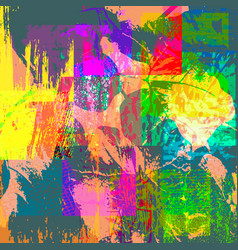 colorabstract ethnic pattern in graffiti style vector image