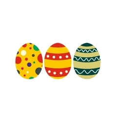 Colorful easter eggs icon vector image
