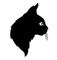 Cute cat silhouettes head vector