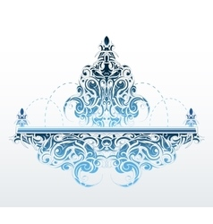 Decorative fountain shape vector
