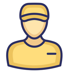 Delivery boy icon which can easily modify vector