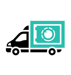 Delivery trucks flat icon vector