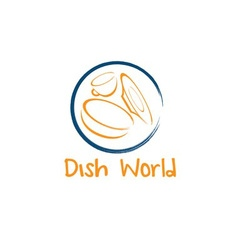 dish world concept design template vector image