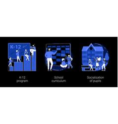 Education program abstract concept vector