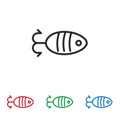 fish shaped bait icon vector image