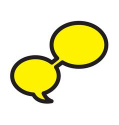 Flat color word bubble icon vector