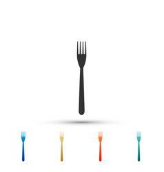 fork icon isolated on white background vector image