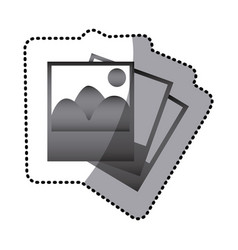 Grayscale pictures photos icon vector