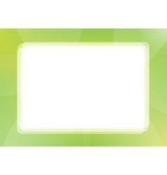 Green Border Frame vector image