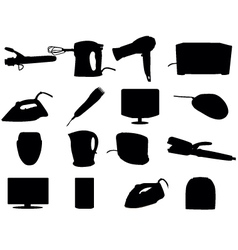 Home Appliance Silhouettes vector image
