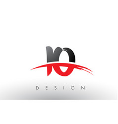 Io i o brush logo letters with red and black vector
