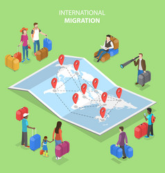 isometric flat concept international vector image
