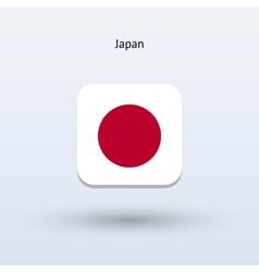 Japan flag icon vector