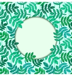 Leaves of tropical plants vector image