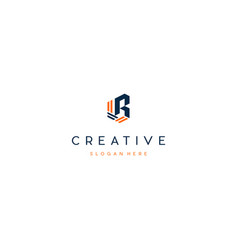 Letter r creative business logo design vector
