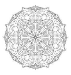 Mandala oriental decorative element vector