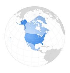 Map north america vector