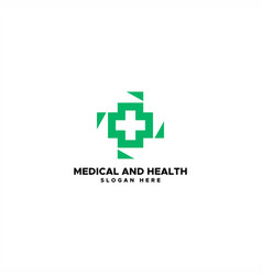 medical and health logo vector image