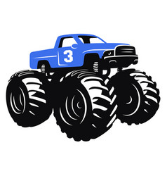 monster truck 001 vector image