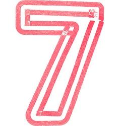 Number 7 vector
