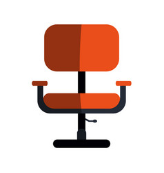 Office chair with wheels icon image vector