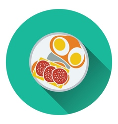 Omlet and sandwich icon vector image