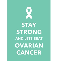 ovarian cancer poster vector image