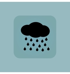 Pale blue rain icon vector