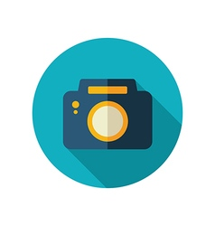 Photo Camera flat icon Summer Vacation vector