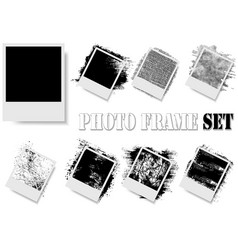 photo frame with texture effects vector image